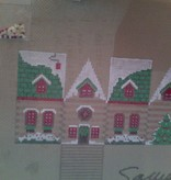 Canvas LOG CABIN GINGERBREAD HOUSE  XO127