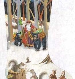 Canvas WOODLAND SANTA  188001