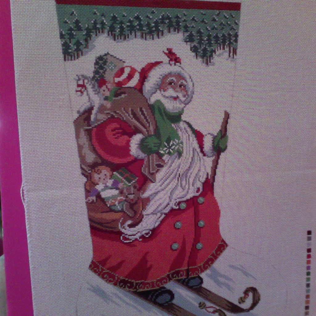 Canvas SKIING SANTA  XS7069
