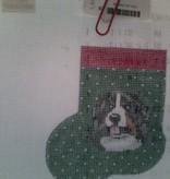 Canvas BERNESE MT DOG MINI SOCK  AB370
