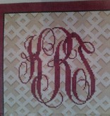 Canvas CUSTOM MONOGRAM ON FRETWORK AA765A