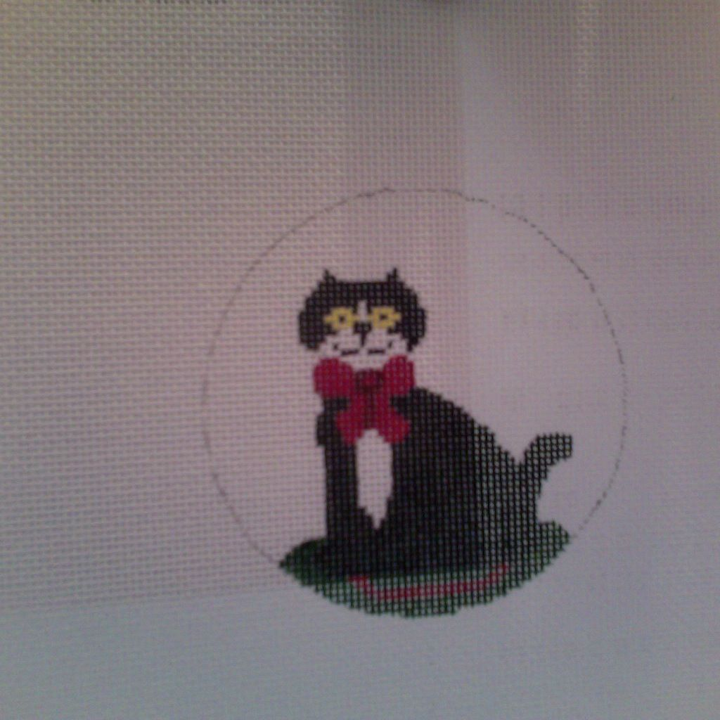 Canvas CAT ORNAMENT  106