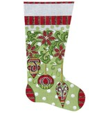 Canvas JOY XMAS STOCKING 2135