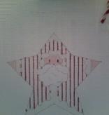 Canvas SANTA STAR  CH259K1