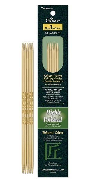 Needles dpn #7 clover velvet