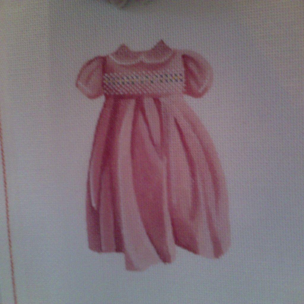 Canvas GIRL SMOCKED DRESS AB199A