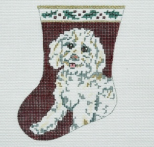 Canvas BICHON MT DOG BR35