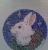 Canvas RABBIT ON BLUE  C046