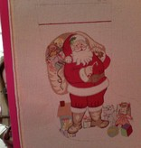 Canvas SANTA WITH TOYS GIRL  CS46