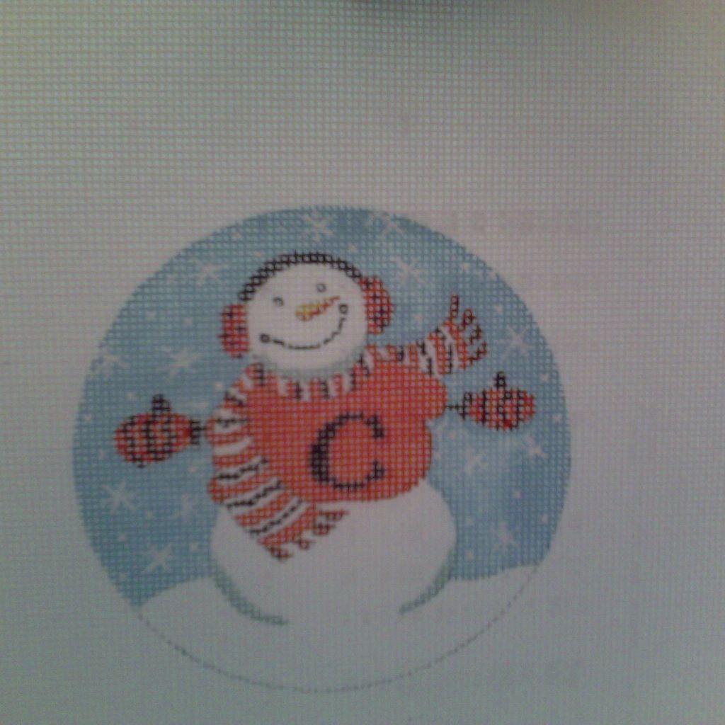 Canvas CLEMSON SNOWMAN  664