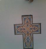 Canvas BLUE ENAMEL CROSS N1722