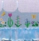 Canvas BLUE FLOWER TUTU TOPPER  TO82