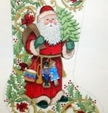 Canvas OLD FASHIONED SANTA AND TOYS  CS7245-S