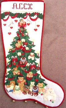 Canvas TEDDY BEAR TREE  CS177