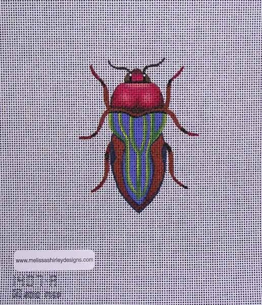 Canvas BEETLE  RED/GREEN  1407A