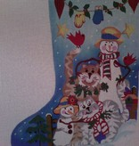 Canvas SNOWMEN AND CATS  4214
