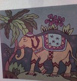 Canvas ELEPHANT UNDER PALM  8258 - SALE<br /> REG 86.00