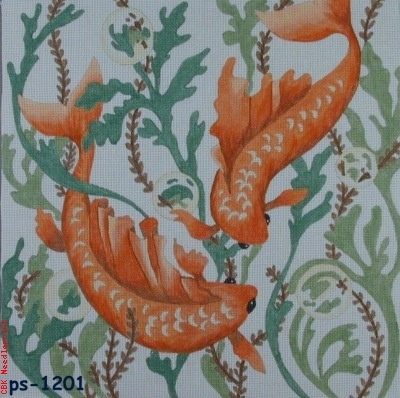 Canvas ORIENTAL FISH  PS1201