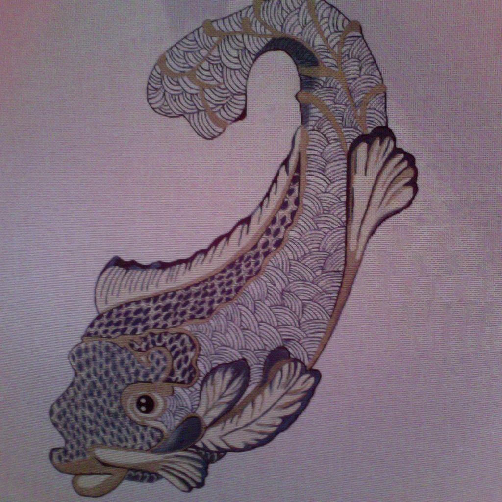 Canvas JAPANESE FISH  7055