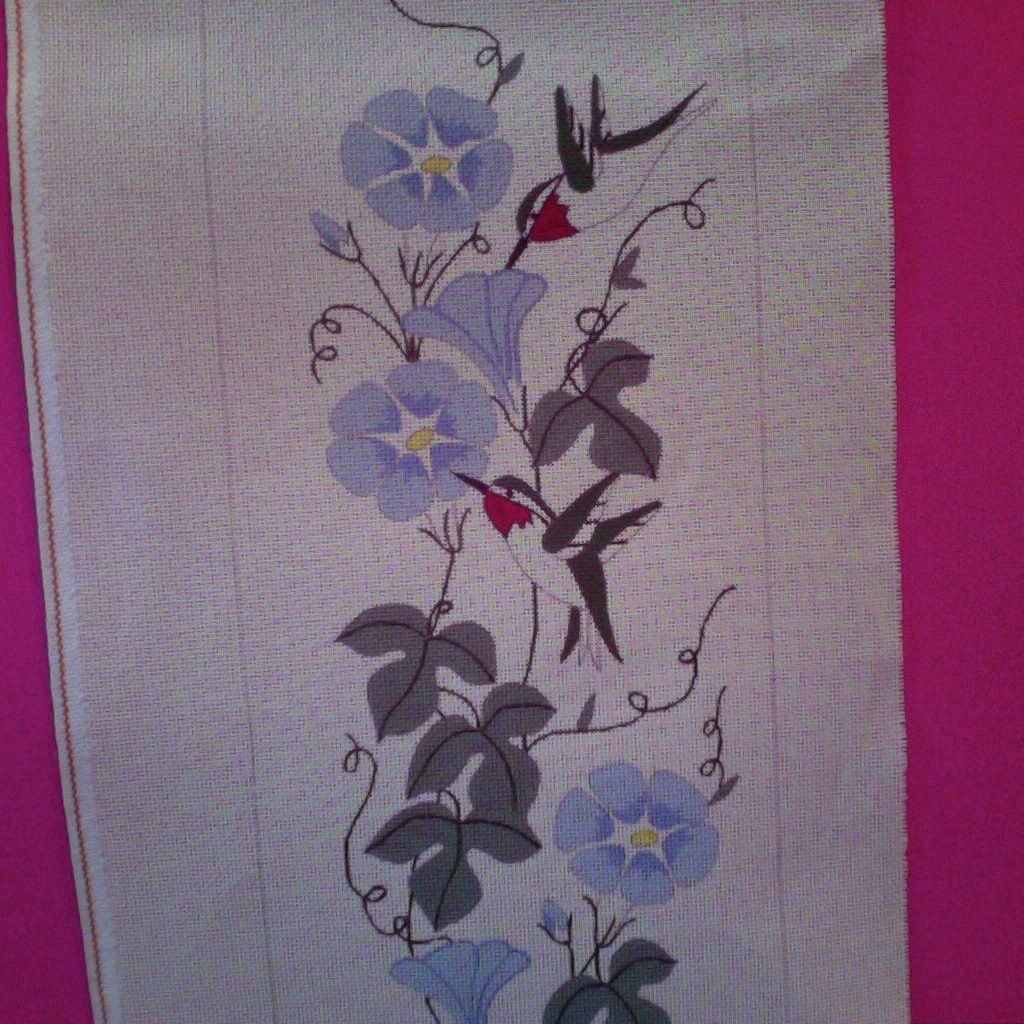 Canvas HUMMINGBIRD BELLPULL  409<br /> SALE  REG $70