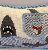 Canvas SHARK TOOTH FAIRY PILLOW