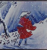 Canvas SNOWY MOUNTAIL TRAIL  B135