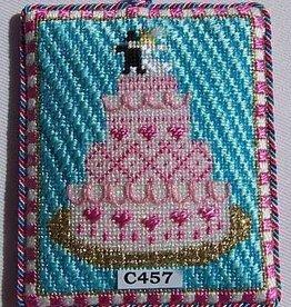Canvas WEDDING CAKE ORNAMENT  C457