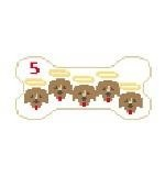 Canvas DOG BONE XMAS GOLDENS PS205