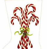 Canvas CANDY CANE STOCKING MLT66