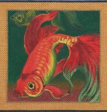 Canvas KOI ON GREEN  B56B