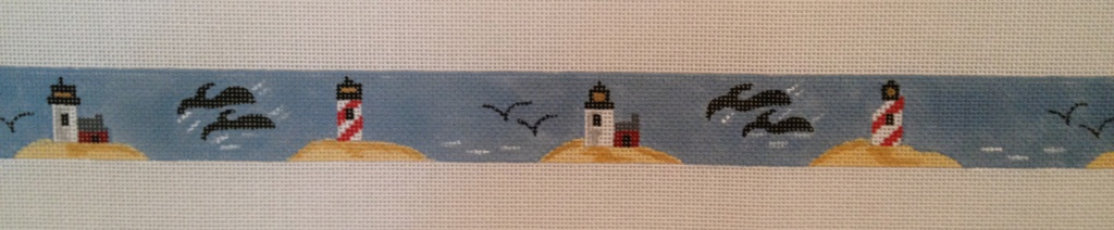 Canvas LIGHTHOUSES AND WHALES BELT  BE1316