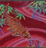 Canvas KOI ON RED  B56A