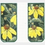 Canvas YELLOW ECHINACEA EYEGLASS CASE<br />