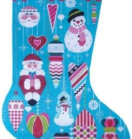 Canvas GLITZY ORNAMENT STOCKING CS46
