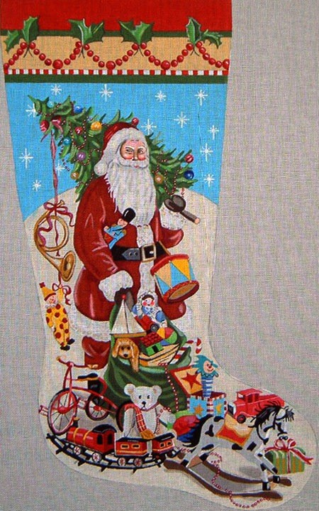 Canvas SANTA AND TOY SACK  MC3003