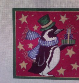 Canvas XMAS PENGUIN  6160