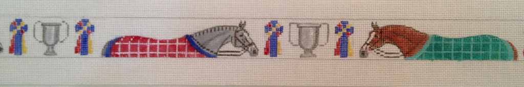 Canvas HORSES AND BLANKET  B206
