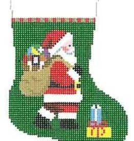Canvas SANTA AND BAG MINI SOCK  5401