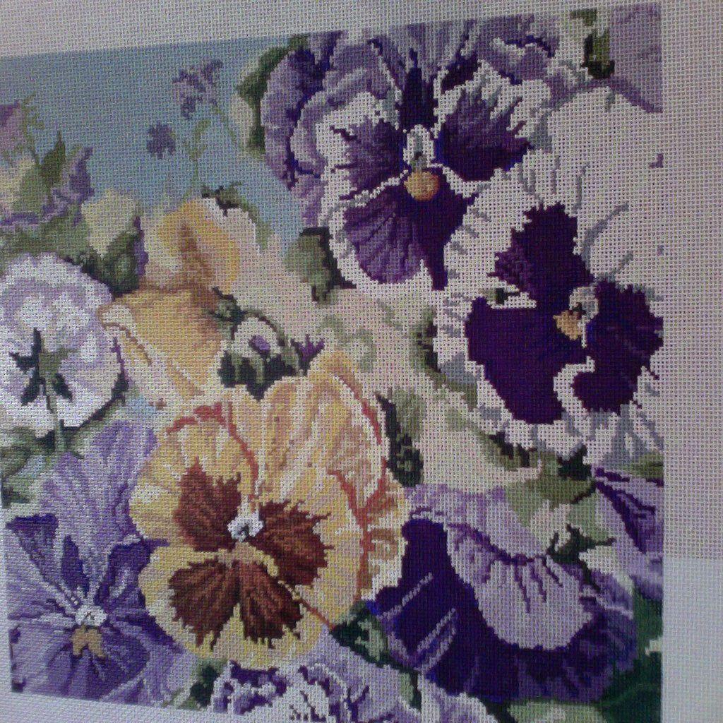 Canvas PANSIES  3235
