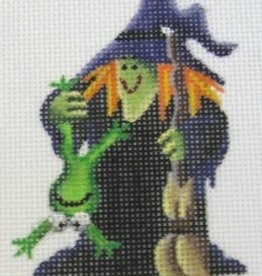 Canvas Witch and Frog  023g<br />