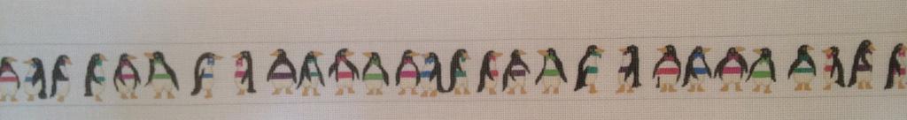 Canvas PENGUINS IN TUXES  B190