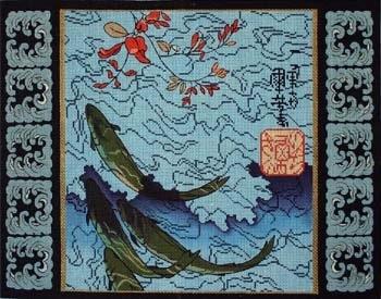 Canvas KOI PILLOW  716