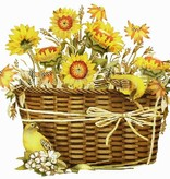 Canvas Sunflower Basket  MLT198<br />