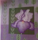 Canvas PURPLE IRIS & LEAVES  V038