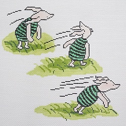 Canvas PIGLET IN THE WIND  BR296