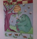 Canvas BEAR WITH HONEY TREE MM27