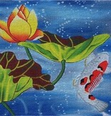 Canvas KOI IN POND A123