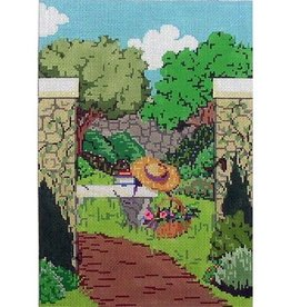 Canvas SALE  -  SECRET GARDEN  WITH GATE  PS13  REG $118
