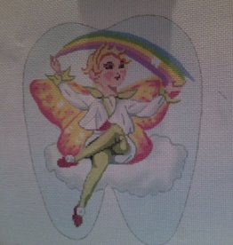 Canvas RAINBOW TOOTH FAIRY  BR210