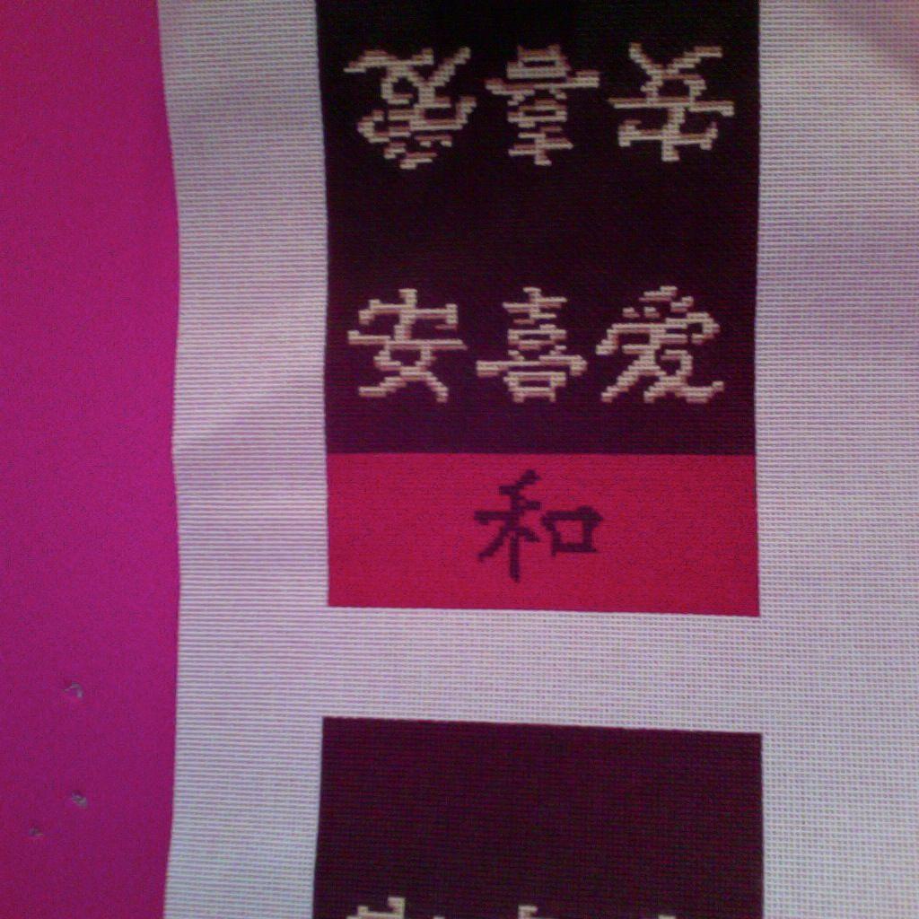 Canvas ASIAN SYMBOL MINI BOX PURSE<br />CLMI187 - SALE<br /> REG 111.00